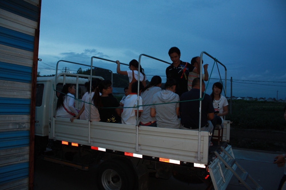 Cixi trainers in back of pickup 2-min