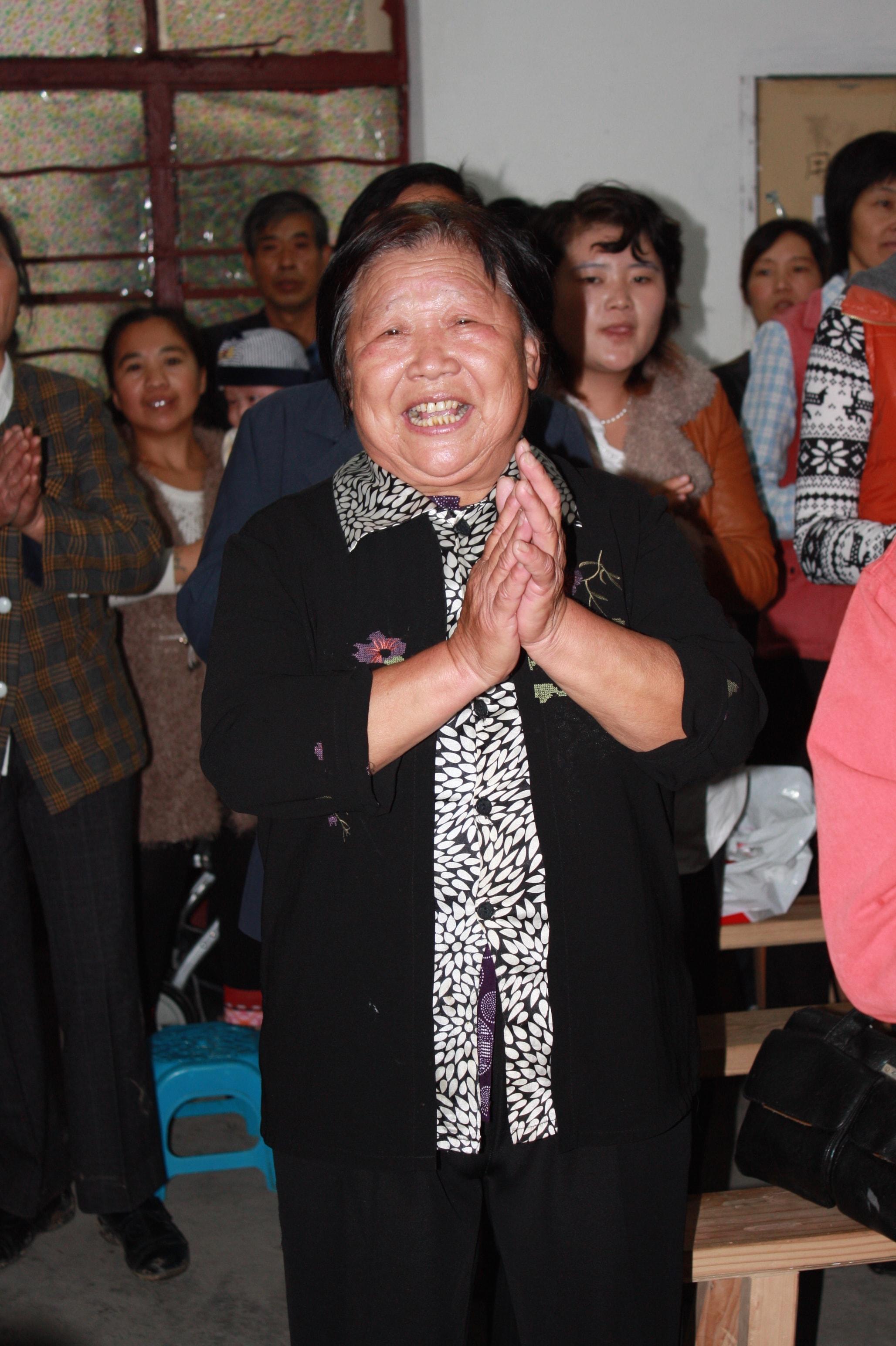 Elderly joyous believer-min