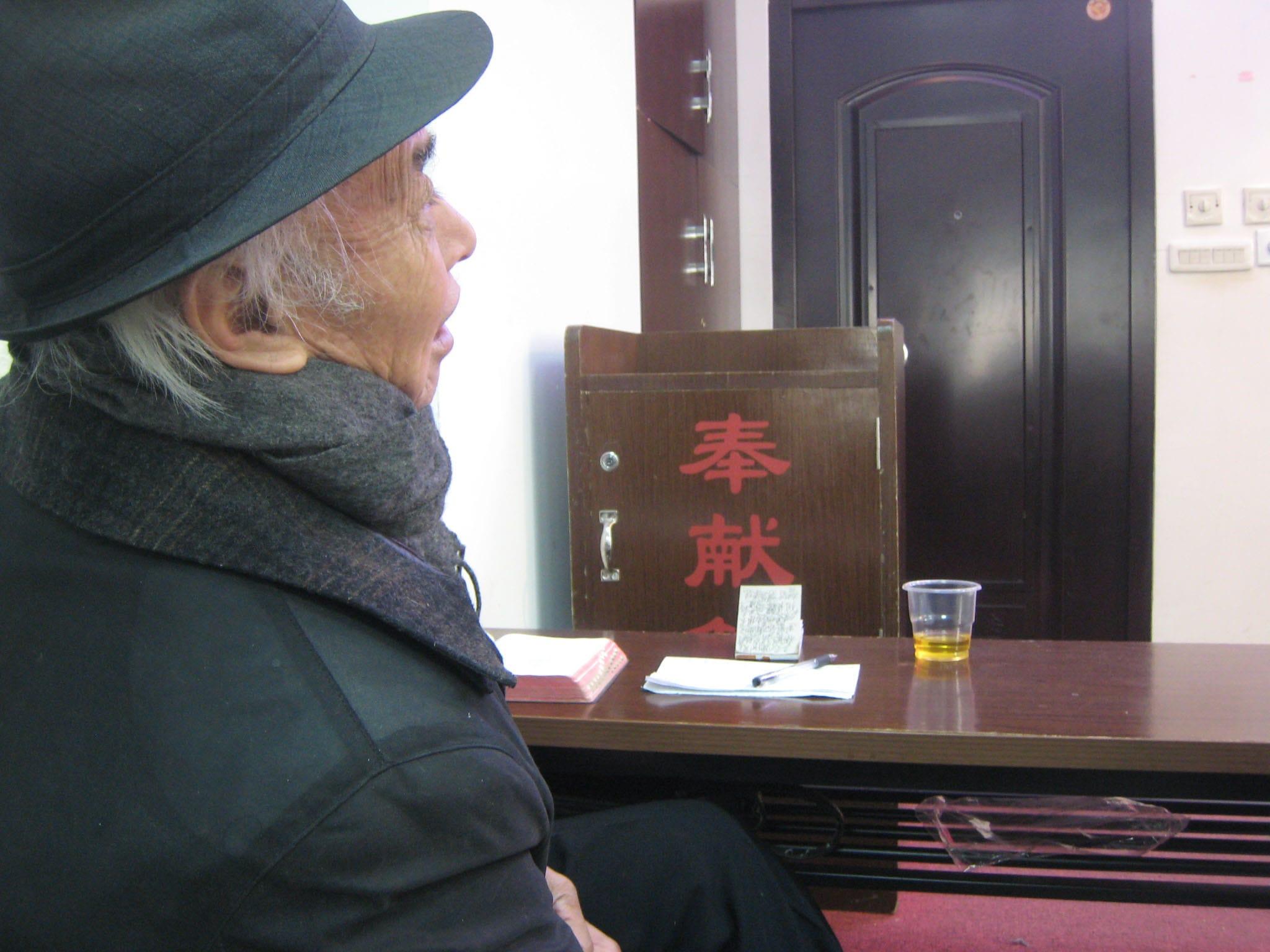 Elderly man - hears sermon 2-min