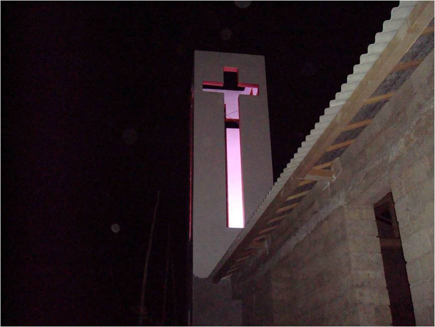 Gaoshan - steeple at night-min