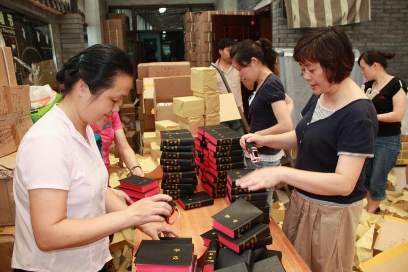 Hangzhou Bible Distribution point - ladies working-min