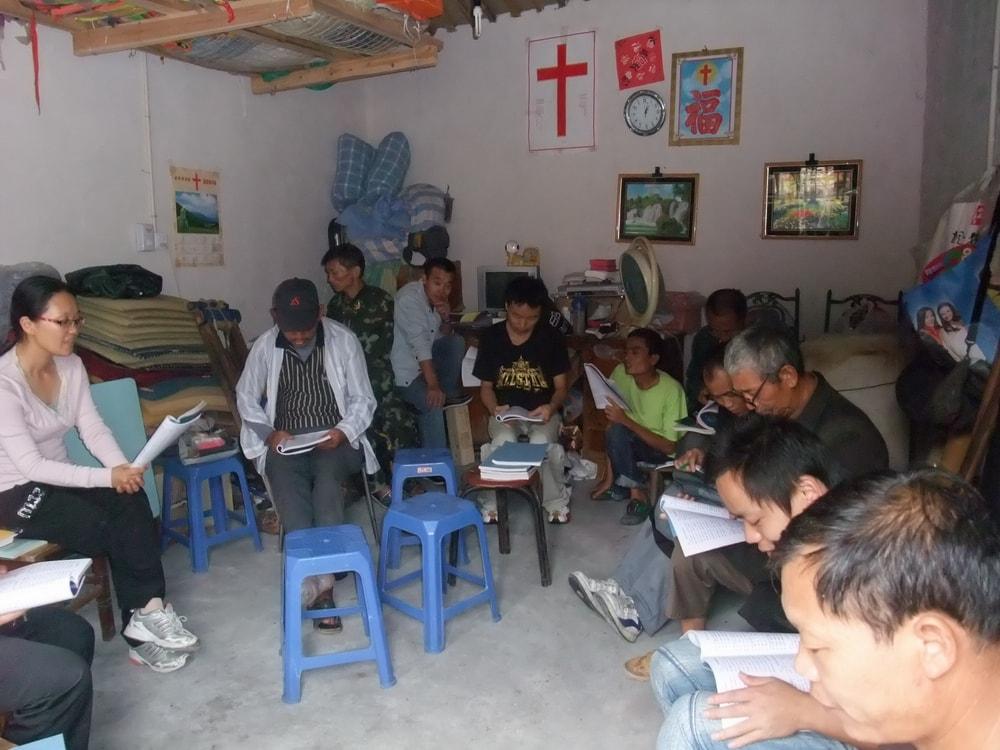 Homeless believers Bible Study group-min