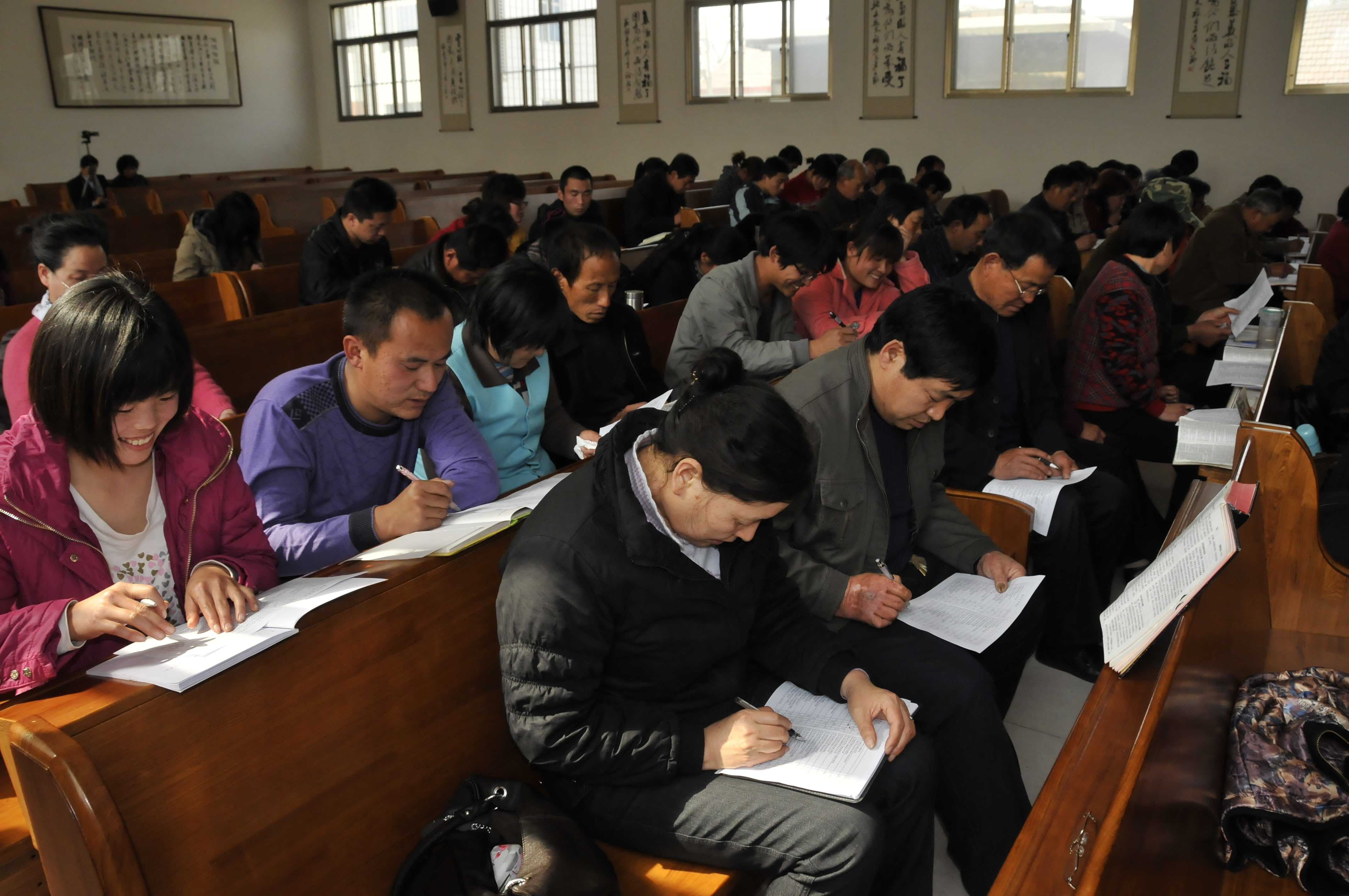 MER - Zibo - believers all studying Bible-min